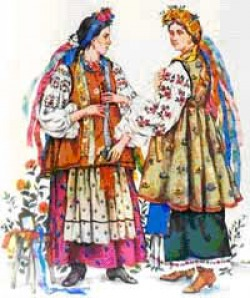 national russian dress costume decorations manners customs  gaitan itan pochepka chapochka is a type of decoration for women s dress a colourful braid used for trimming of shirt collars pinafore and apron