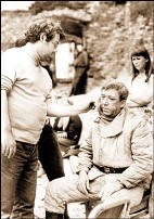 Alexei German and Yuri Nikulin at shooting Twenty Days Without War