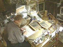 Yuri Norstein in his studio