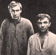 Rolan Bykov and Oleg Yankovsky in Once there served two friends (1968)