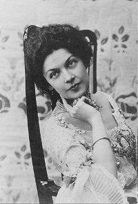 Anastasia Vyaltseva a famous Russian variety singer (mezzo soprano